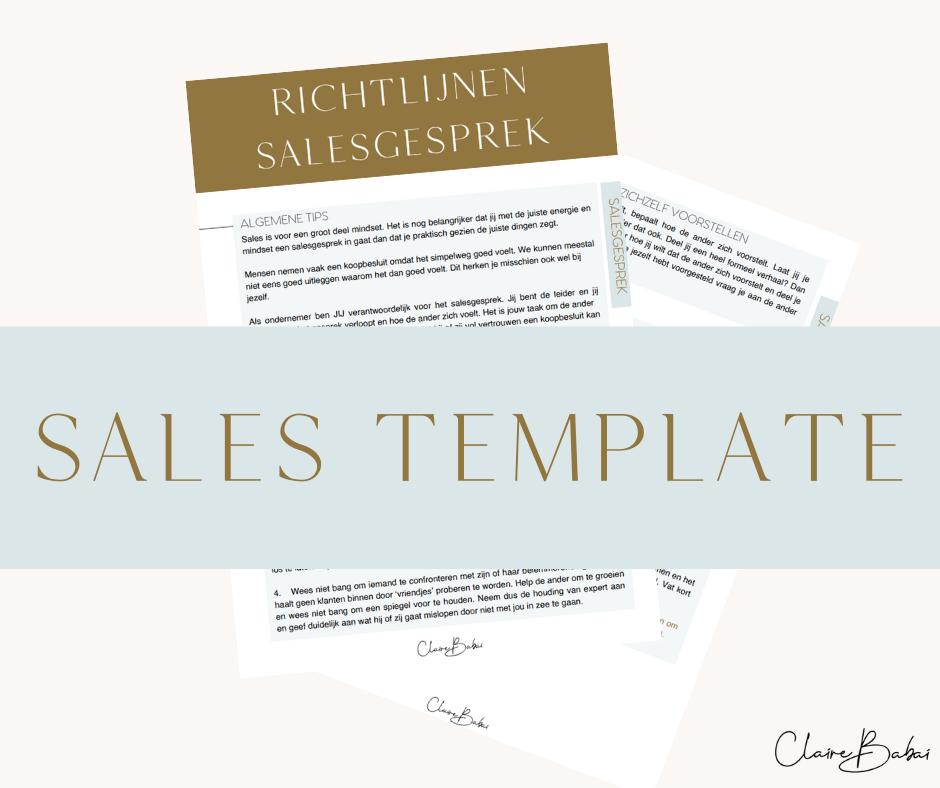 Sales template